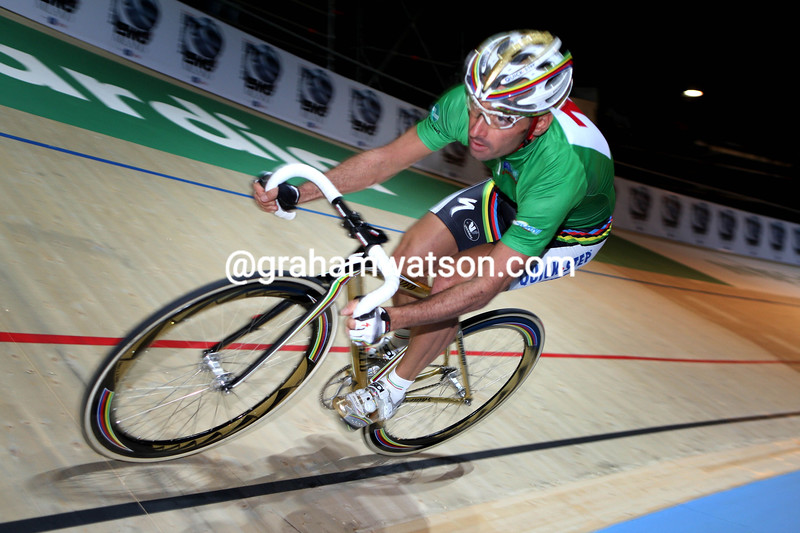 PAOLO BETTINI IN THE SIX-DAYS OF MILAN