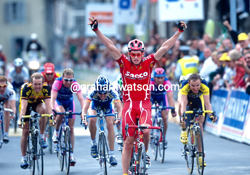 Paolo Savoldelli wins a stage of the 1997 Tour de Romandie
