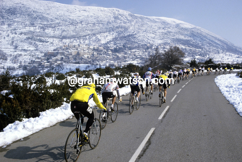 Cyclists in the 1988 Paris-Nice