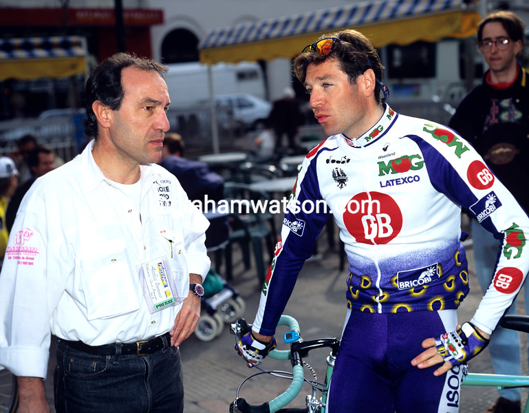 Pascal Richard and Bertrand Duboux in the 1993 Paris-Nice