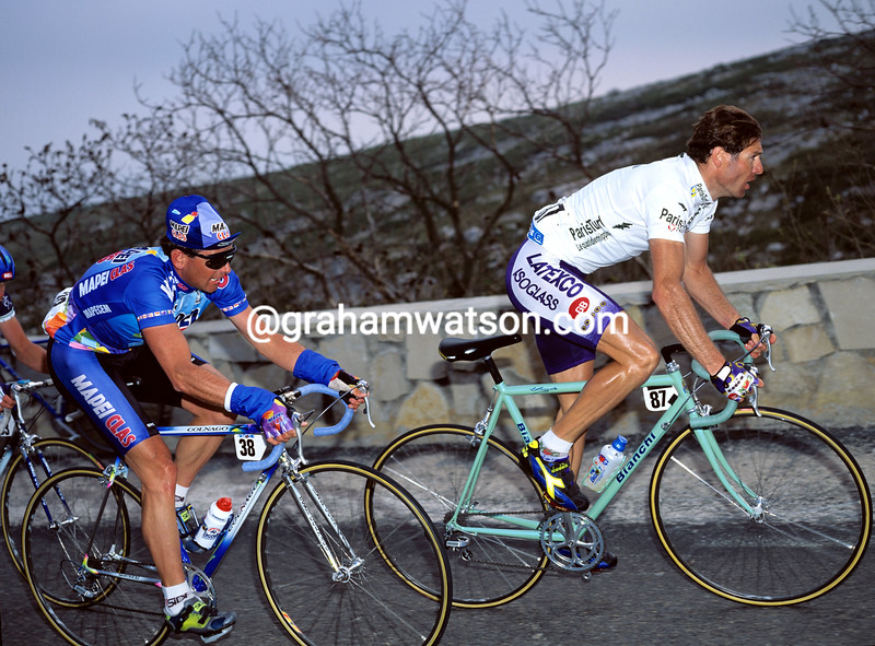 Pascal Richard and Tony Rominger in the 1993 Paris-Nice
