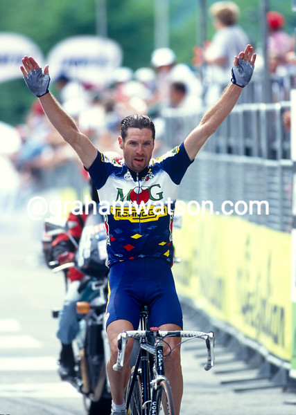 Pascal Richard in the 1994 Giro d'Italia