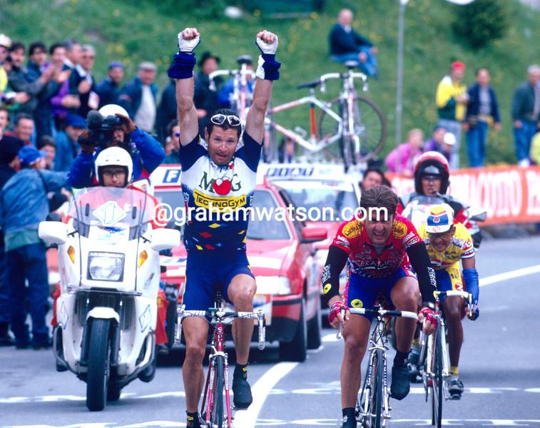 Pascal Richard in the 1995 Giro d'Italia