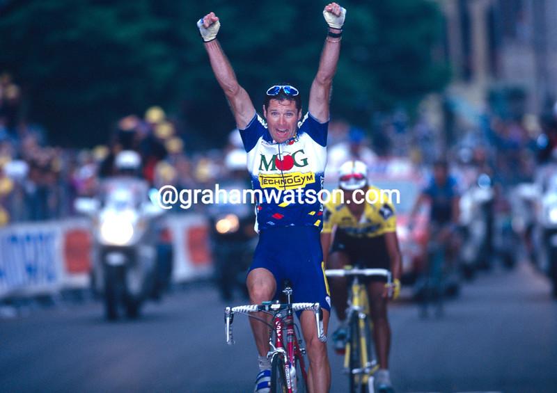 Pascal Richard in the 1996 Giro d'Italia