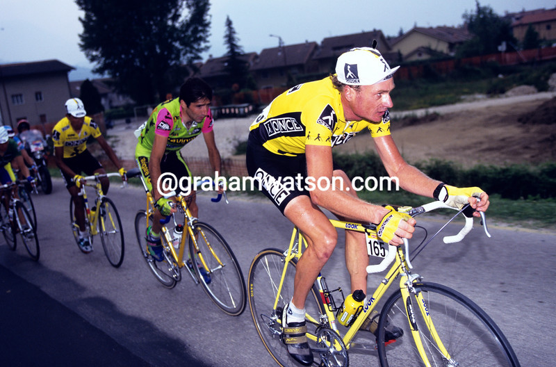 Patrick Jonker in the 1996 Giro d'Italia
