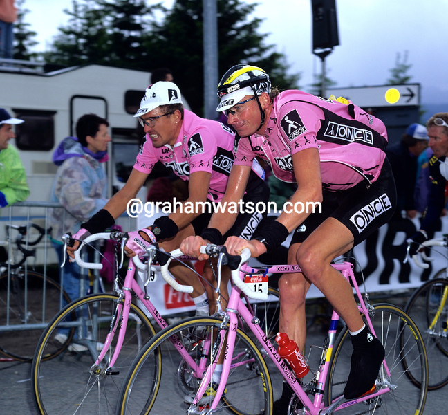 Patrick Jonker and Alex Zulle in the 1996 Tour de France