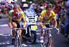 PEDRO DELGADO CLIMBS WITH GERT-JAN THEUNISSE IN THE 1988 TOUR DE FRANCE