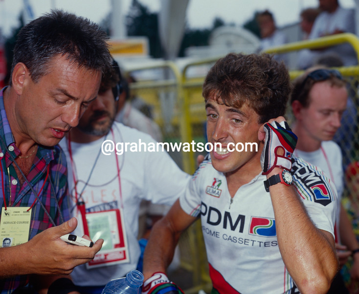 Pedro Delgado and Harry Jansen in the 1986 Tour de France