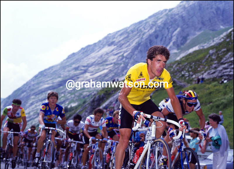 PEDRO DELGADO CLIMBS IN THE 1987 TOUR DE FRANCE