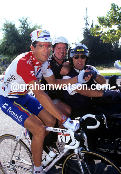 Miguel Indurain in the 1996 Tour of Spain