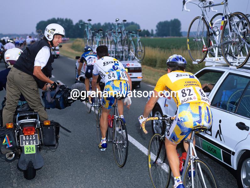 Glenn Wilkinson films Chris Boardman in the 1994 Tour de France