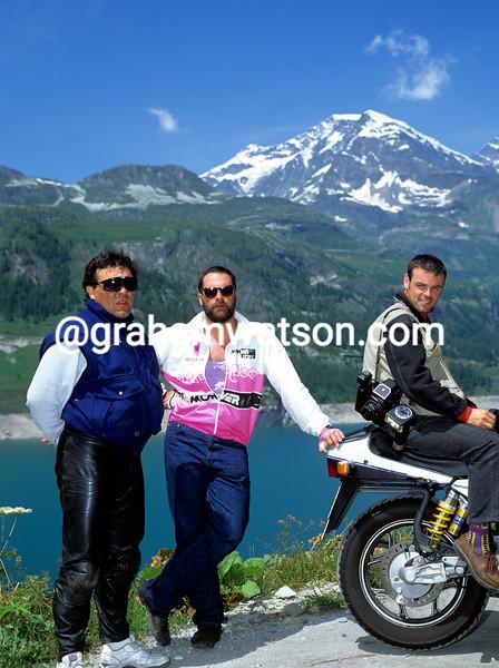 Ismael Borges and Rafa Landa with photographer Fred Mons