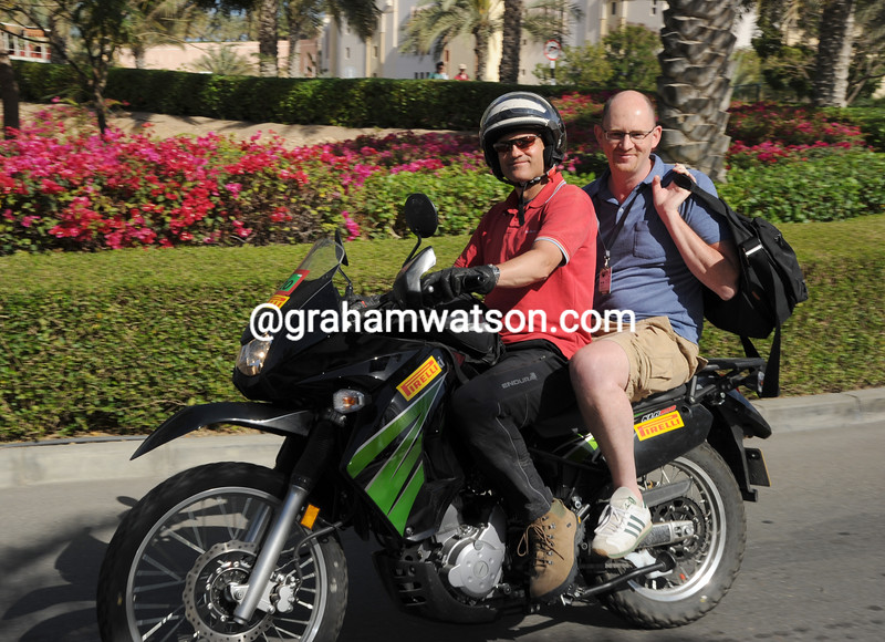 Luke Evans and Stephen Farrand in the 2012 Tour of Oman