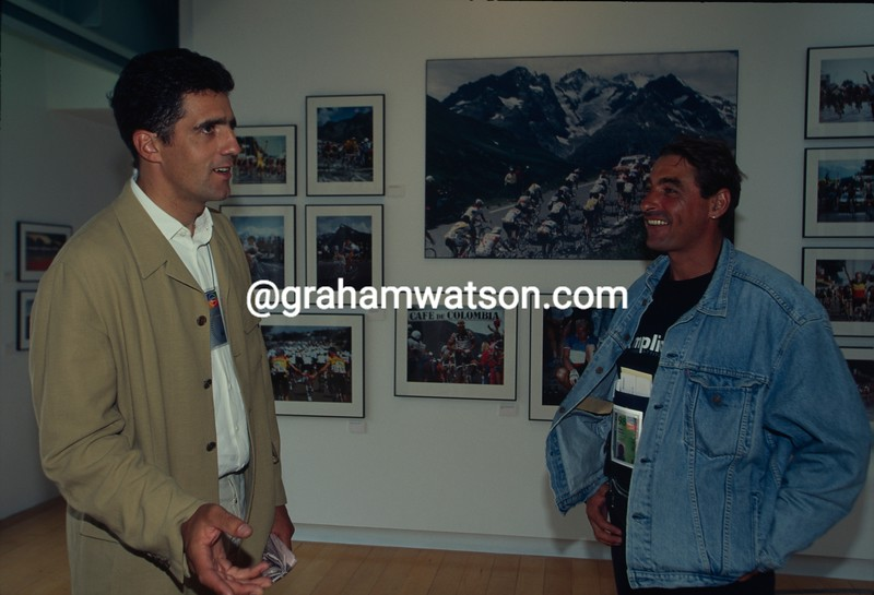 Miguel Indurain with Patrice Diallo in 1998