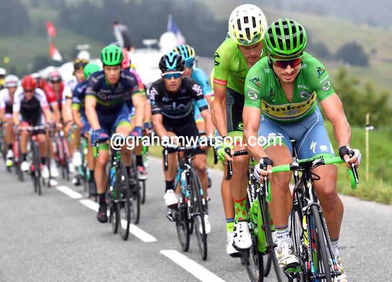 Peter Sagan escapes on stage 20 of the 2016 Tour de France