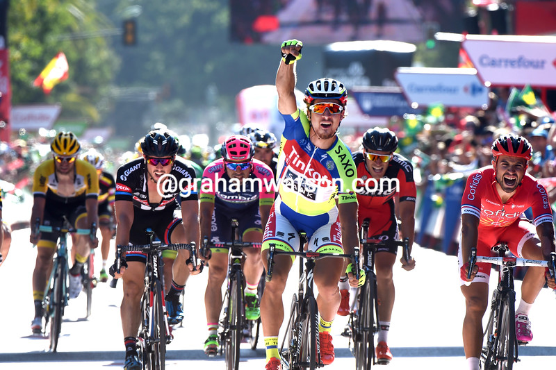 Peter Sagan wins stage three of the 2015 Tour of Spain