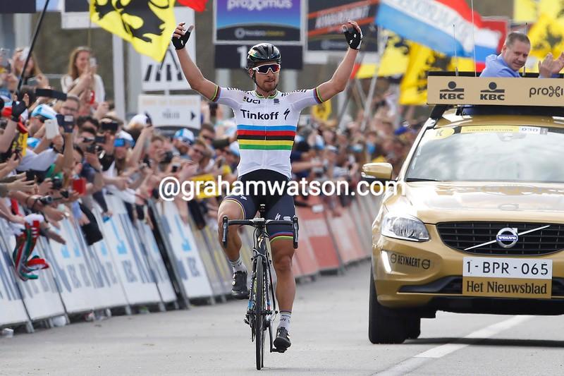 Peter Sagan wins the 2016 Tour of Flanders