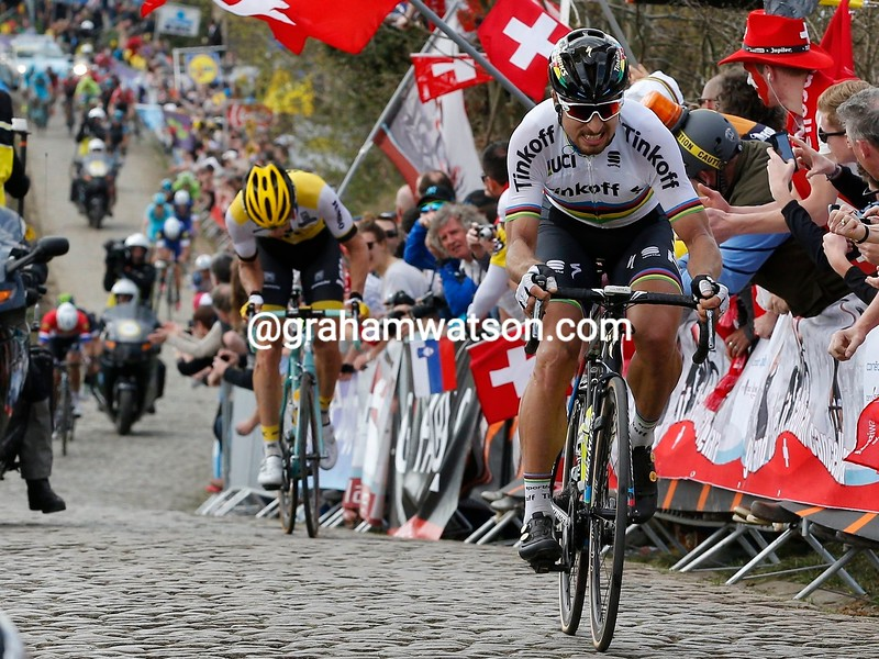 Peter Sagan escapes to win the 2016 Tour of Flanders