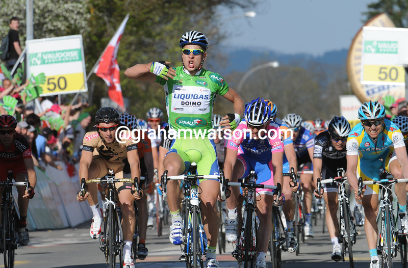 PETER SAGAN WINS STAGE ONE OF THE 2011 TOUR DE ROMANDIE