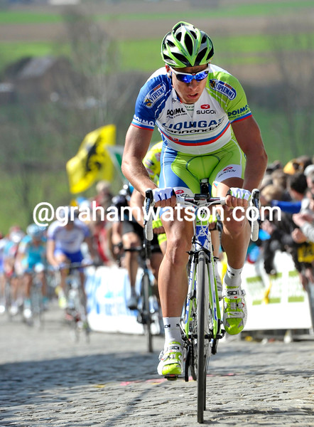 Peter Sagan in the 2012 Tour of Flanders