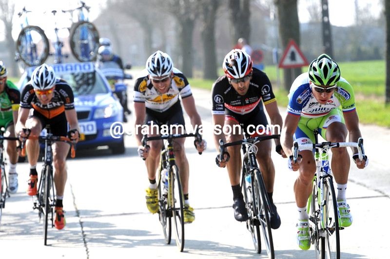 Peter Sagan leads an escape in the 2012 Ghent Wevelgem