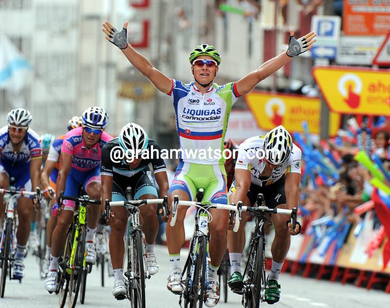 PETER SAGAN WINS STAGE TWELVE OF THE 2011 TOUR OF SPAIN