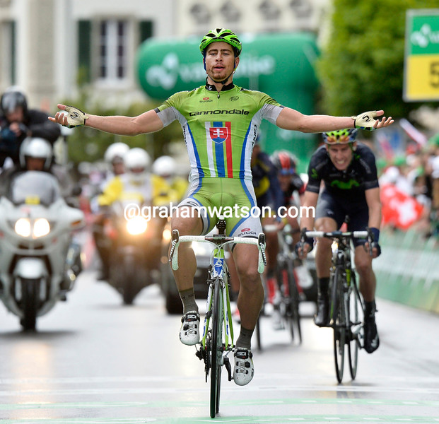Peter Sagan wins stage three of the 2013 Tour de Suisse