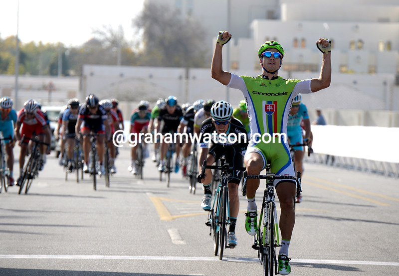 Peter Sagan wins stage four of the 2014 Tour of Oman