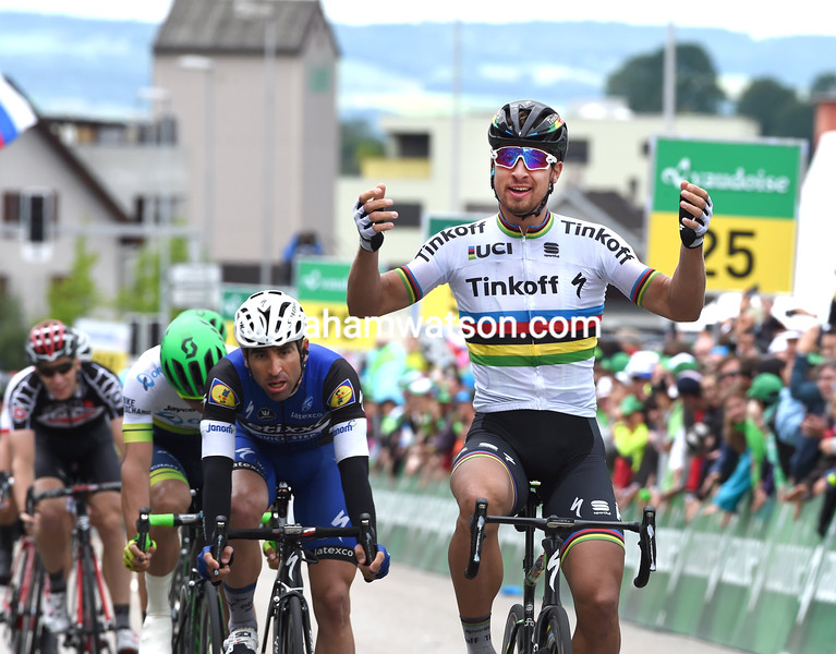 Peter Sagan wins stage two of the 2016 Tour de Suisse