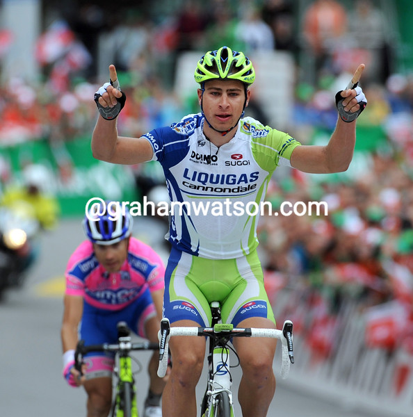 PETER SAGAN WINS  STAGE THREE OF THE 2011 TOUR DE SUISSE