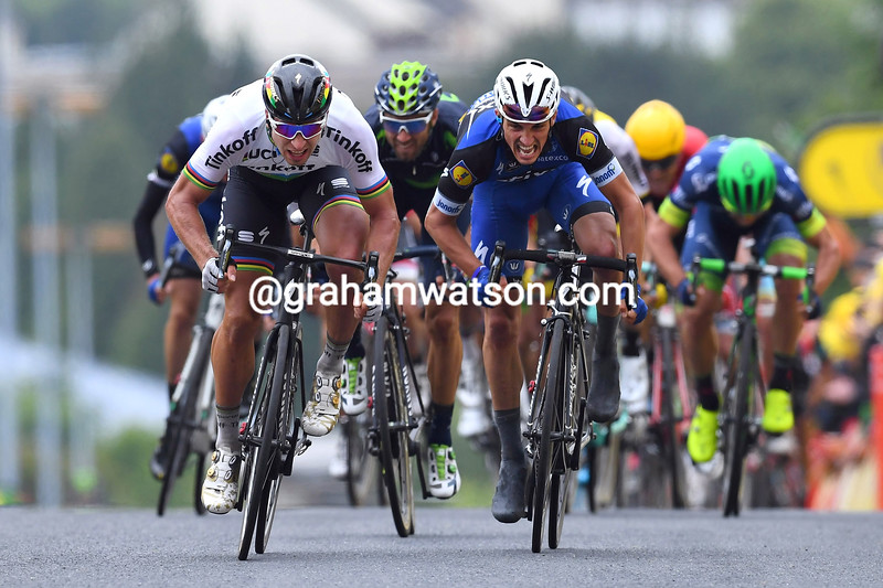 Peter Sagan wins Stage 2 of the 2016 Tour de France from Julian Alaphilippe
