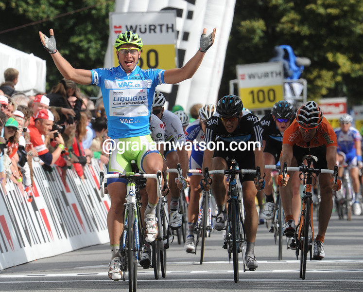 PETER SAGAN WINS STAGE EIGHT OF THE 2011 TOUR DE SUISSE