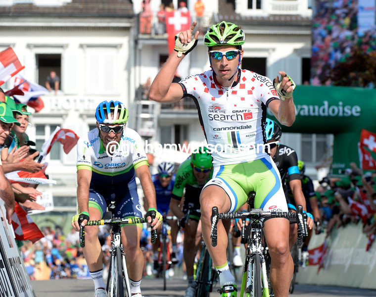 Peter Sagan wins stage three of the 2014 Tour de Suisse