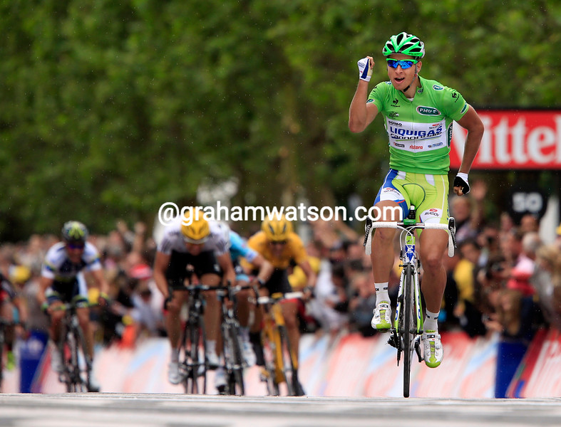 Peter Sagan wins stage three of the 2012 Tour de France