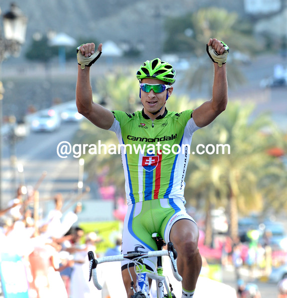 Peter Sagan wins stage 2 of the 2011 Tour of Oman