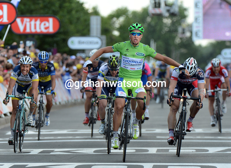 Peter Sagan wins stage six of the 2012 Tour de France