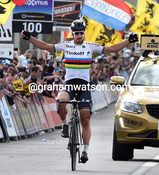 Peter Sagan wins the 2016 Tour of Flanders