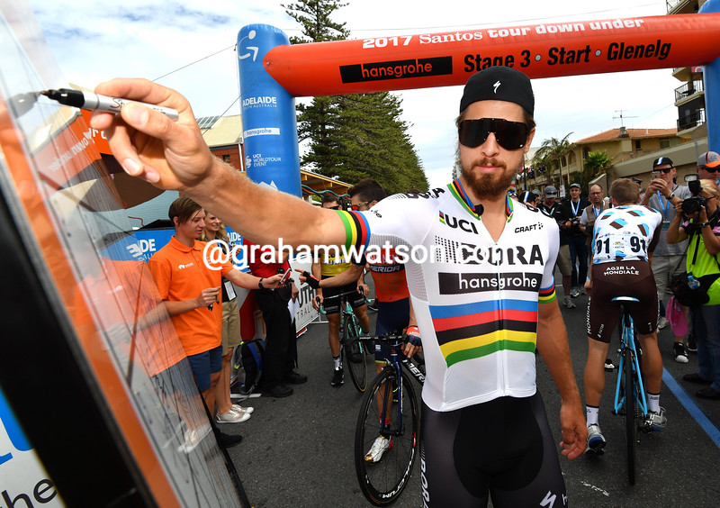 Peter Sagan on stage three of the 2017 Tour Down Under