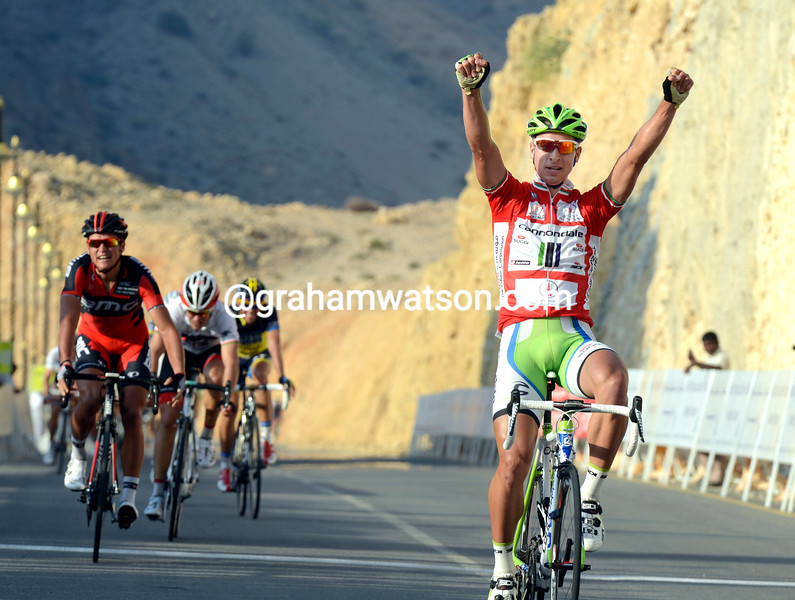Peter Sagan wins stage 3 of the 2010 Tour of Oman