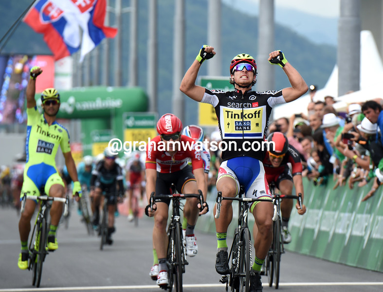 Peter Sagan wins stage six of the 2015 Tour de Suisse