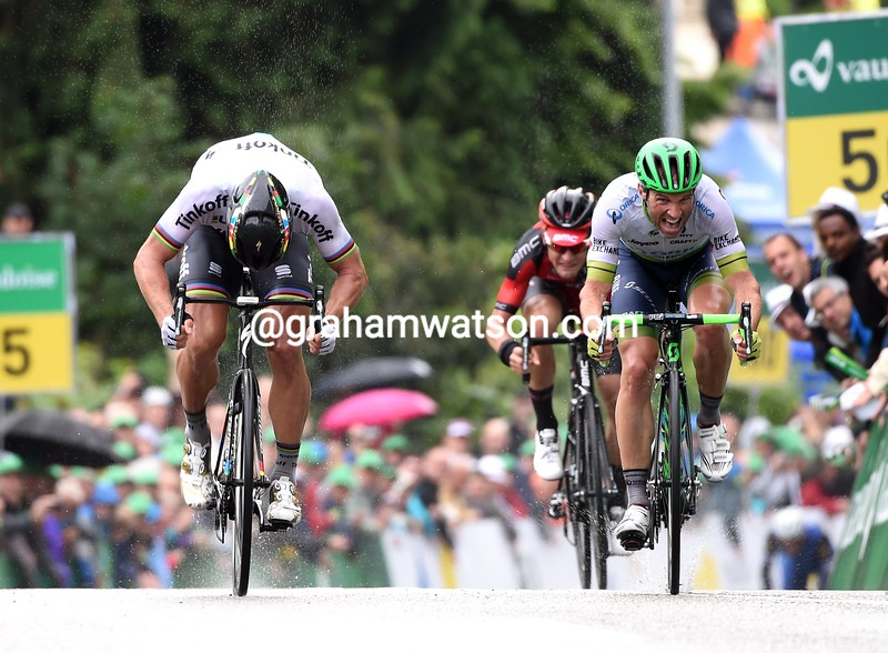 Peter Sagan wins stage three of the 2016 Tour de Suisse