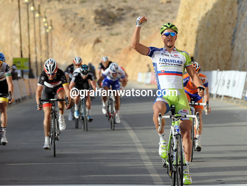 Peter Sagan wins stage two of the 2012 Tour of Oman