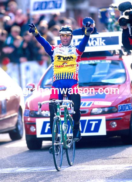 Peter Van Petegem wins the 1997 Omloop Het Volk
