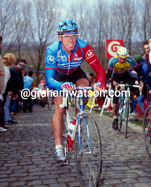Phil Anderson in the 1993 Tour of Flanders