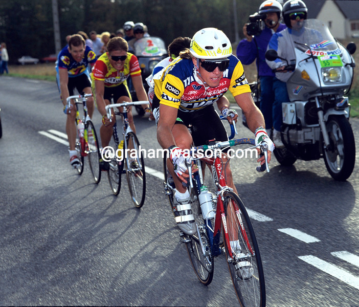 Phil Anderson in the 1990 Paris-Tours