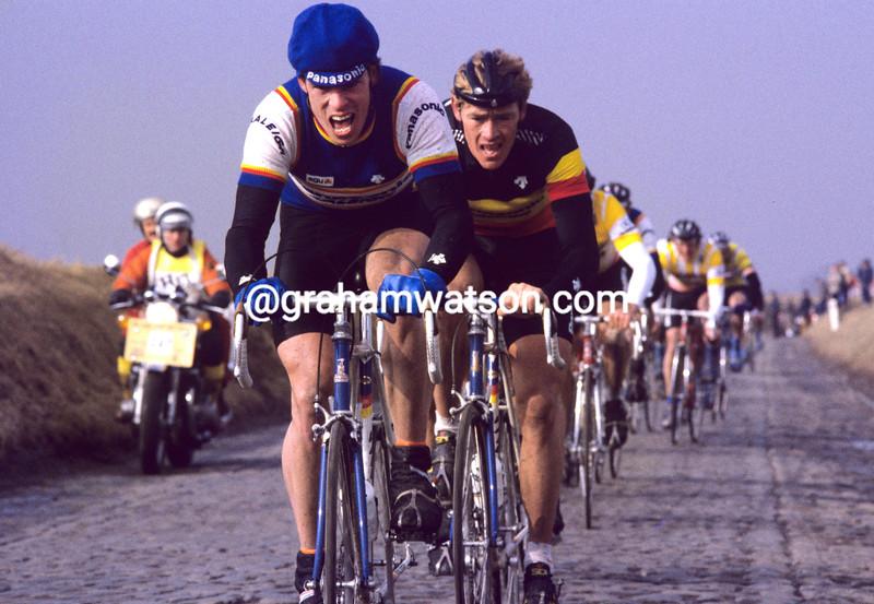 Phil Anderson in the 1985 Omloop Het Volk