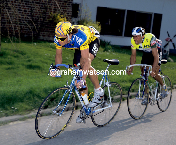 Phil Anderson in the 1988 Tour of Flanders