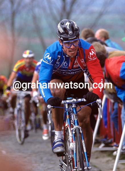 Phil Anderson in the 1991 Tour of Flanders