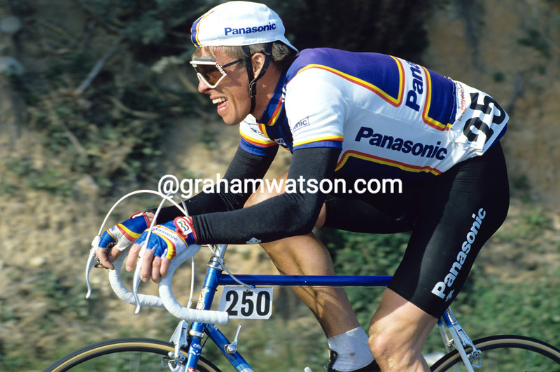 Phil Anderson in the 1986 Milan-San Remo