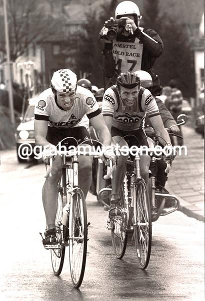 PHIL ANDERSON AND JOOP ZOETEMELK IN THE 1983 AMSTEL GOLD RACE